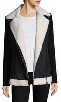 Design History Faux Fur Knit Sleeve Jacket