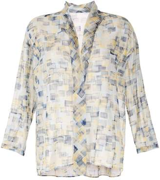 TOMORROWLAND geometric sheer blouse