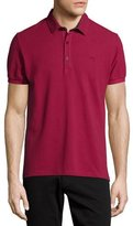 Etro Short-Sleeve Polo Shirt w/Paisley Details, Red