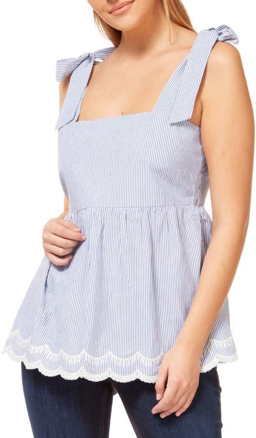 Dex Stripe Cotton Blouse