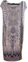 Roberto Cavalli Purple Leather Dress for Women