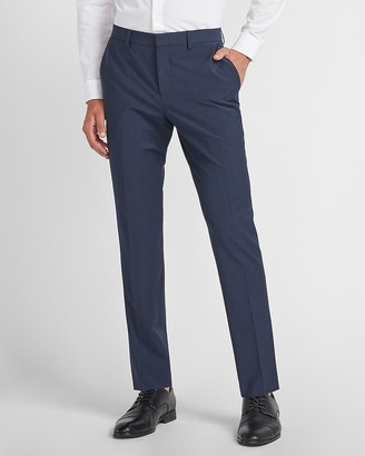 Express Slim Navy Washable Wool-Blend Suit Pant