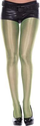 MUSIC LEGS Women's Shiny Metallic Pantyhose