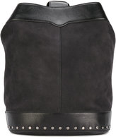 Rebecca Minkoff Mission sling backpack - women - Leather/Jute - One Size