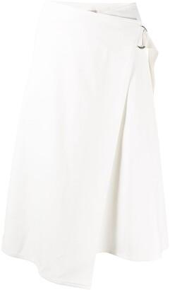 Moncler Wrap Cotton Midi Skirt