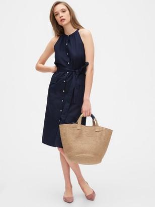 Gap Halter-Neck Shirtdress in Cotton-Linen