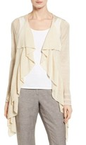 Nic+Zoe Women's Ruffle Wave Linen Blend Cardigan