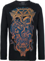 Balmain panther and snake print sweater