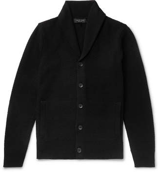 Rag & Bone Cardiff Shawl-Collar Merino Wool And Cotton-Blend Cardigan