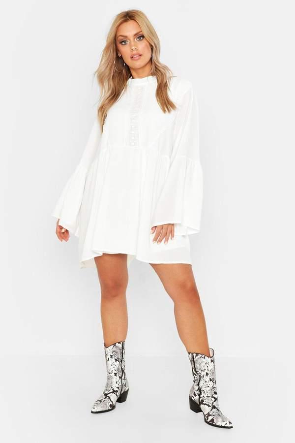 c975047251b6 boohoo White Smocked Dresses - ShopStyle