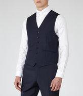 Reiss Reiss George W - Slim-fit Waistcoat In Blue, Mens