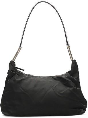 Prada Pre-Owned Metallic Detailing Shoulder Bag