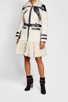 Alexander McQueen Shearling Coat with Leather