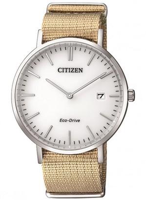 Citizen Men's Eco-Drive Tan Nylon Strap Watch, 38mm