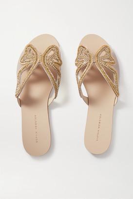 Sophia Webster Madame Butterfly Embellished Leather And Pvc Slides