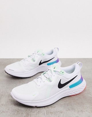 Nike Running 2020 React Miler trainers in white