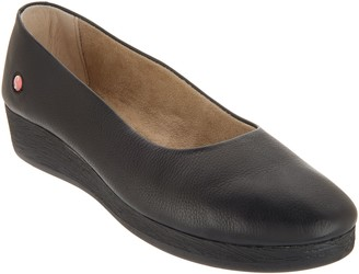 Fly London Leather Slip-on Wedges - Asa
