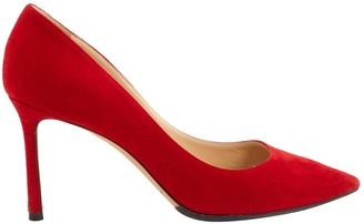 Jimmy Choo Red Suede Heels