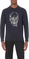 Alexander McQueen Chain-skull cotton-jersey sweatshirt