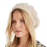 Sole Society Textured Beret with Pearls