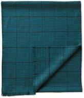 Teal Dogstooth Merino Scarf Size Osfa By Charles Tyrwhitt