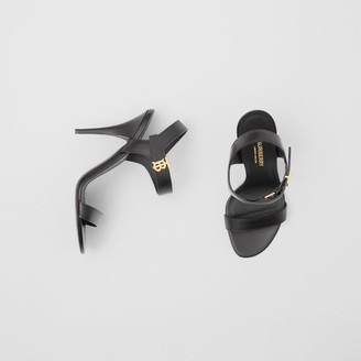 Burberry Monogram Motif Leather Sandals
