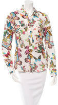 Tory Burch Butterfly Printed Button-Up Top