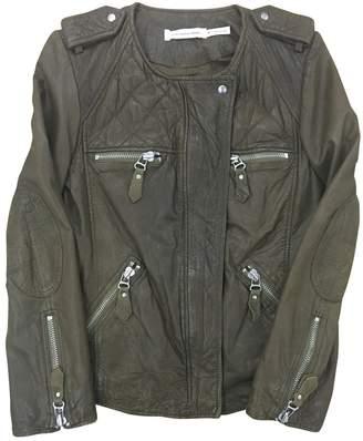 Etoile Isabel Marant Khaki Leather Leather jackets