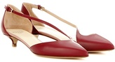 Francesco Russo Patent Leather Kitten-heel Pumps