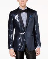 Tallia Orange Men's Big & Tall Modern-Fit Navy Sequin Dinner Jacket