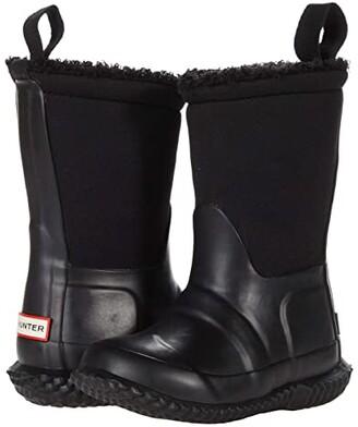 Hunter Original Sherpa Boots (Toddler/Little Kid) (Black) Kid's Shoes