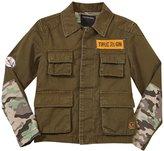 True Religion Military Jacket (Toddler/Kid) - Olive - 7