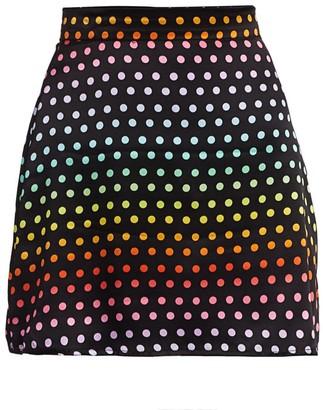 Olivia Rubin Rainbow Dot Mini Skirt