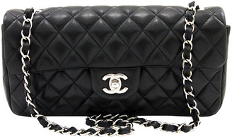 Chanel Black Quilted Leather Medium Double Flap Shoulder Bag