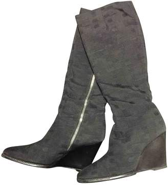 Bally Anthracite Cloth Ankle boots