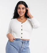 Urban Bliss Plus knitted top with buttons