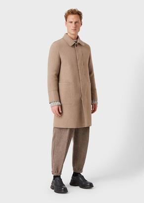 Giorgio Armani Single-Breasted Cashmere Coat