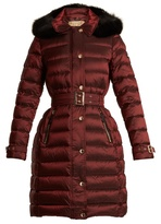 Burberry Ashmore fur-trimmed quilted down coat