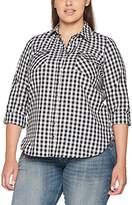 Evans Women's Check Shirt Regular Fit Checkered Classic 3/4 Sleeve Shirt