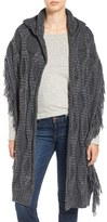 Free People Hooded Cable Knit Wrap