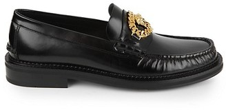 Versace Medusa Matte Leather Loafers