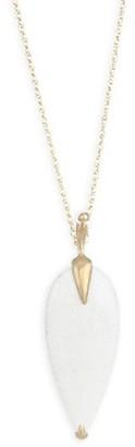 Annette Ferdinandsen Fauna White Agate & 18K Yellow Gold Pendant Necklace