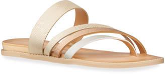 Dolce Vita Metallic Asymmetric Leather Sandals