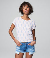 Aeropostale Womens Cape Juby Pineapple Burnout Tee Shirt