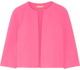 Michael Kors Cropped Stretch-wool Jacket - Pink