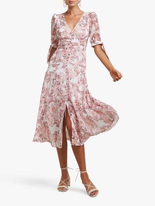 Forever New Sadie Floral Midi Dress, Strawberry Fields