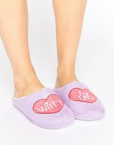 Daisy Street Wifey For Lifey Slipper