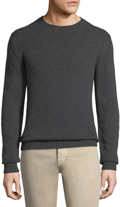 Loro Piana Men's Light Baby Cashmere Crewneck Sweater