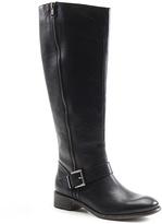 Diba Black Radio Check Leather Boot