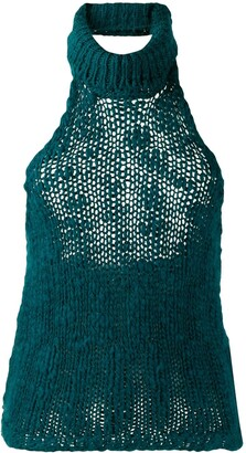 Fendi Pre-Owned 2000's Halterneck Knitted Top